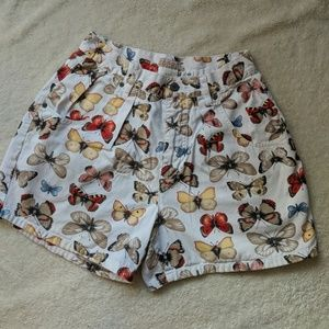 Esprit High Waisted Butterfly Shorts